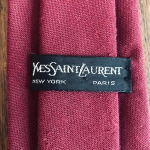 Yves Saint Laurent Classic Red Tie